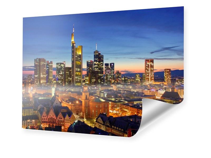 Poster Frankfurt Skyline Poster im Format 80 x ...