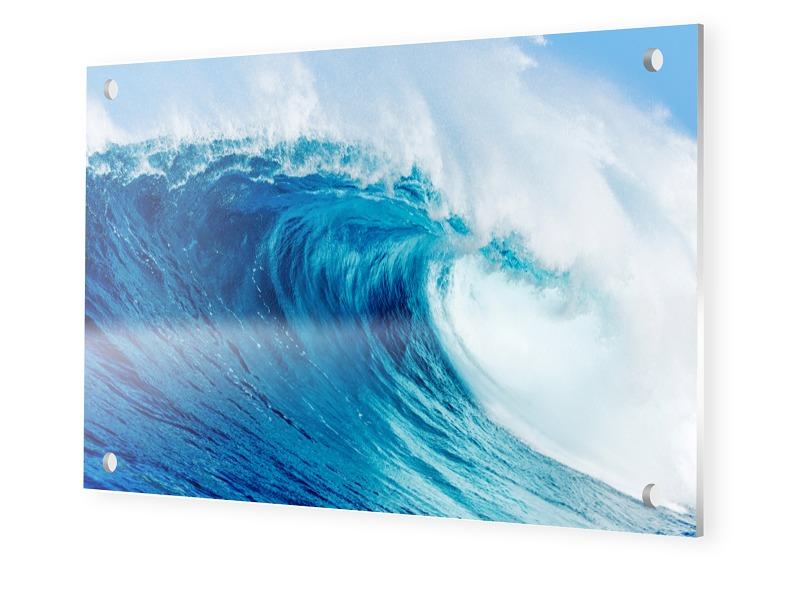 Wellenbild Forex im Format 80 x 60 cm