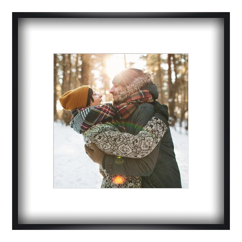 Foto im Holzbilderrahmen in schwarz im Format 7...