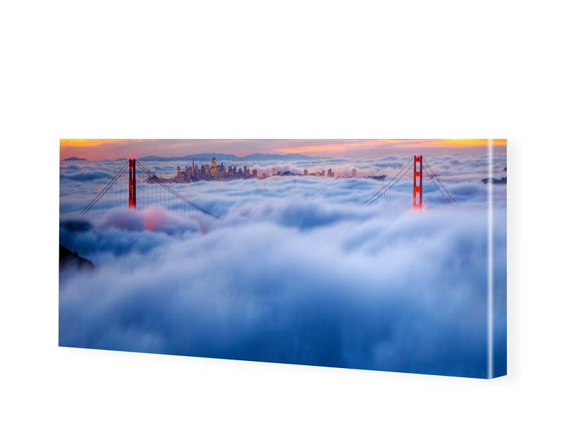 Bild Golden Gate Bridge Leinwanddruck als Panor...