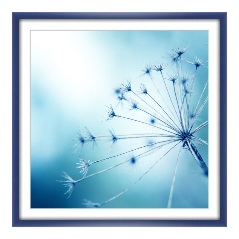 Foto im Holzbilderrahmen in blau im Format 24 x...