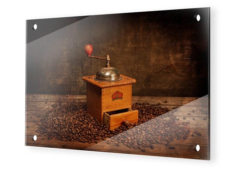Kaffeemühle Bild Glasbilder im Format 60 x 40 cm
