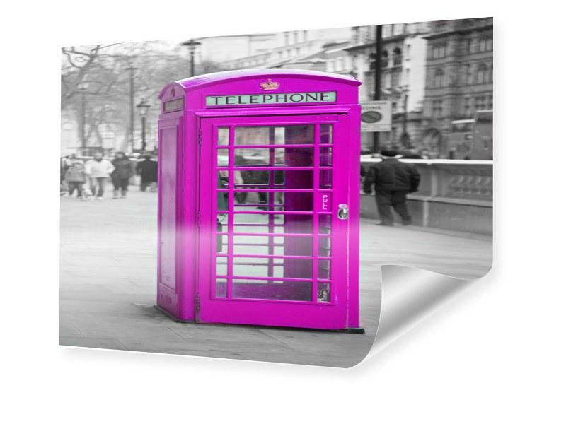 Telefonzelle Foto Posterdruck im Format 90 x 60 cm