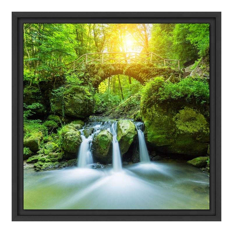 Wasserfall Motiv Glasbilder XXL im Schattenfuge...