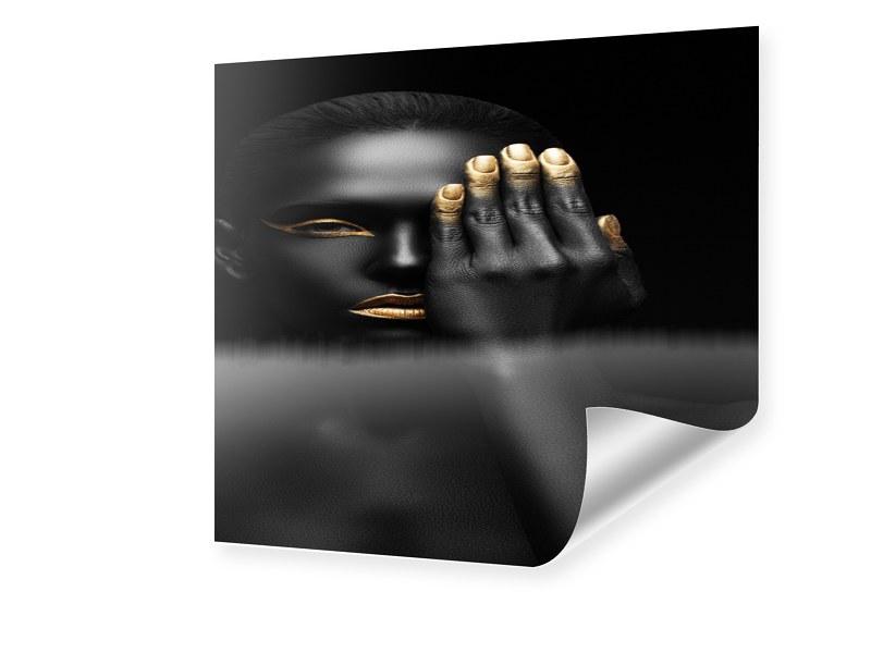 Fashion Porträt Foto vergrößern quadratisch im ...