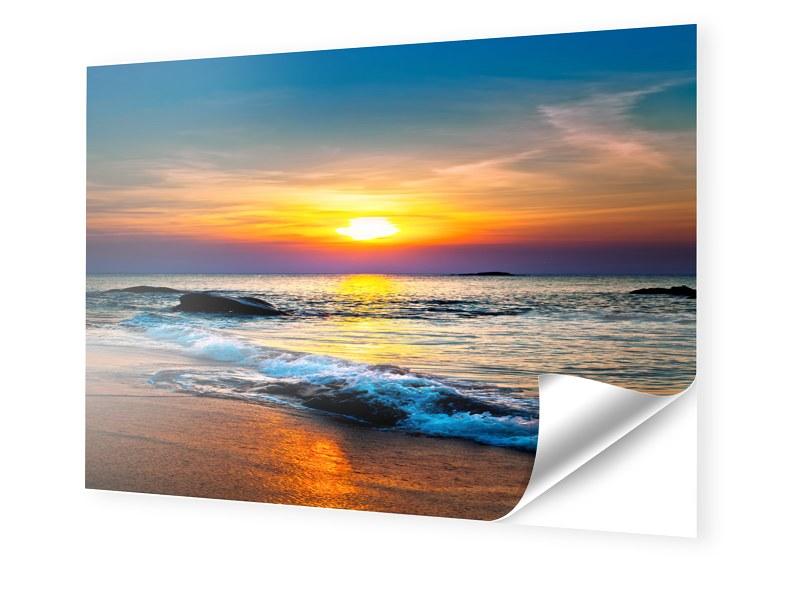 Sonnenuntergang am Strand Fotos auf Folie im Fo...