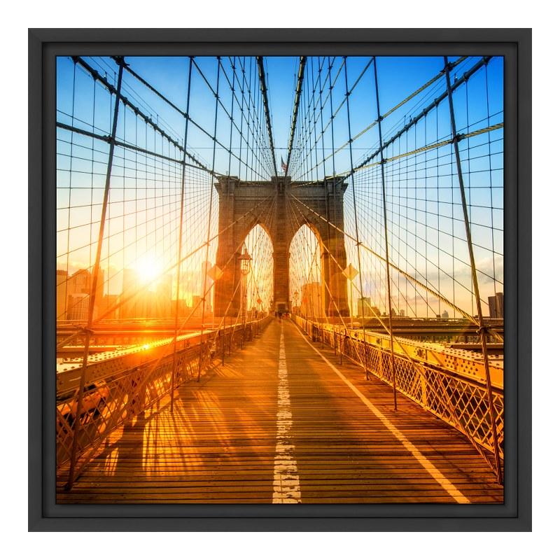 Brooklyn Motiv Glasbilder XXL im Schattenfugen ...