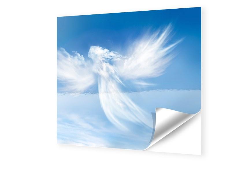 Engel Motiv Fensterfolie quadratisch im Format ...