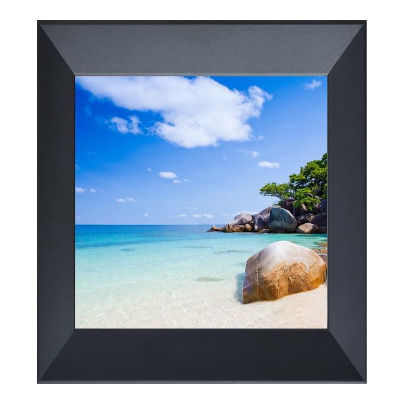 Foto im Fotorahmen Holz in schwarz im Format 18...