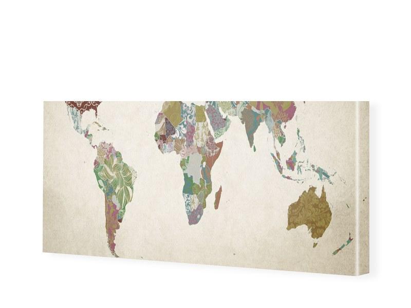 Bild Weltkarte Leinwand Bild Als Panorama Im Fo.