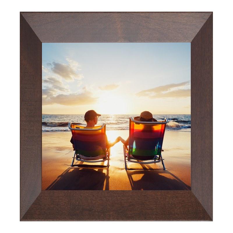 Foto im Fotorahmen Holz in braun im Format 18 x 13 cm | Dekoration > Bilder und Rahmen > Rahmen | myposter