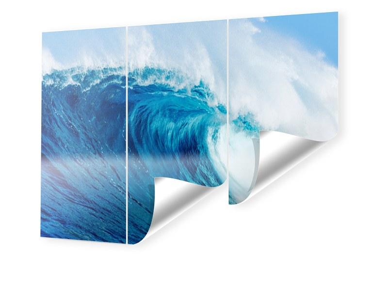Wellenbild Bedruckte Tapete im Format 450 x 270 cm