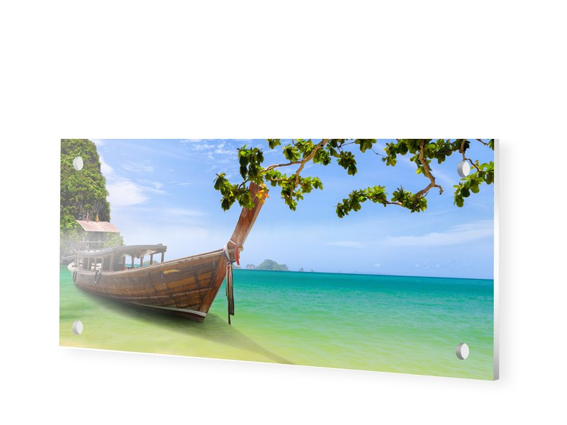 Boote am Strand Forexplatte als Panorama im For...