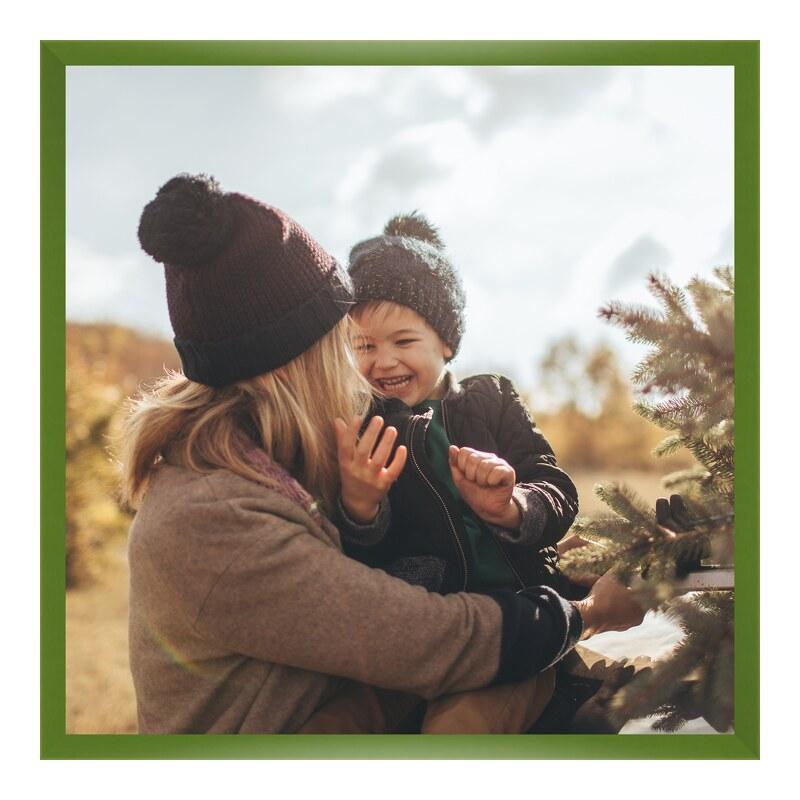Foto im Holzbilderrahmen in grün im Format 18 x...
