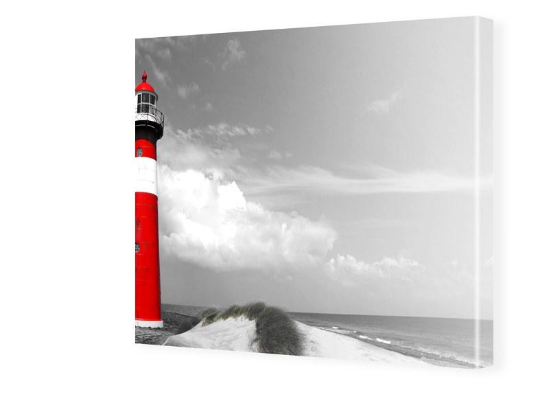 Leuchtturm Poster Fotos auf Leinwand quadratisc...