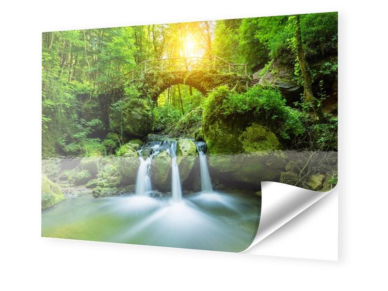 Wasserfall Motiv Fotos auf Folie im Format 150 ...