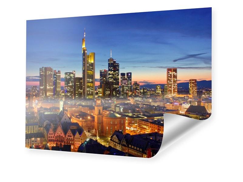 Poster Frankfurt Skyline Fotoposter im Format 1...