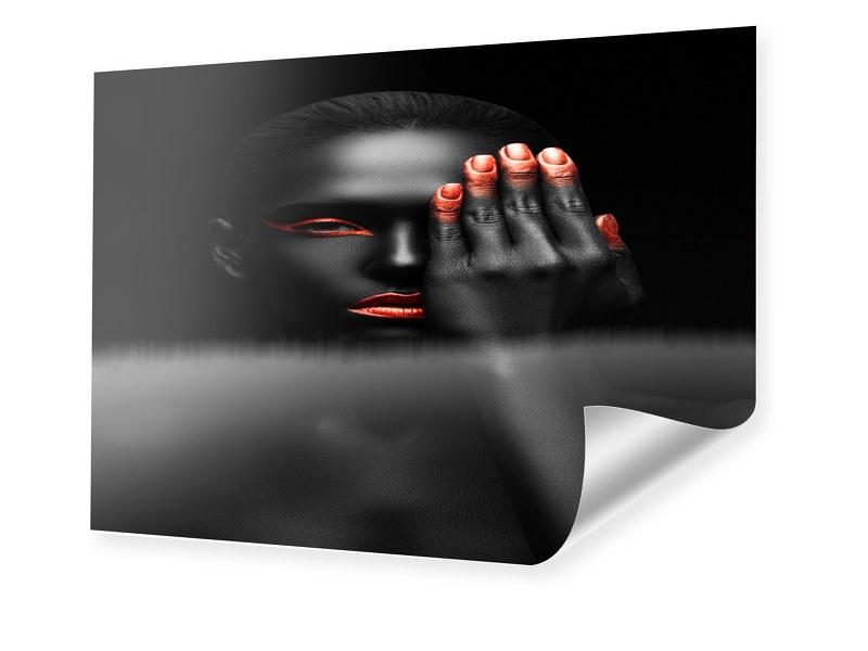 Fashion Porträt Foto im Format 90 x 70 cm