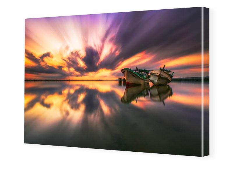 Fischerboote Bilder auf Leinwand im Format 120 ...