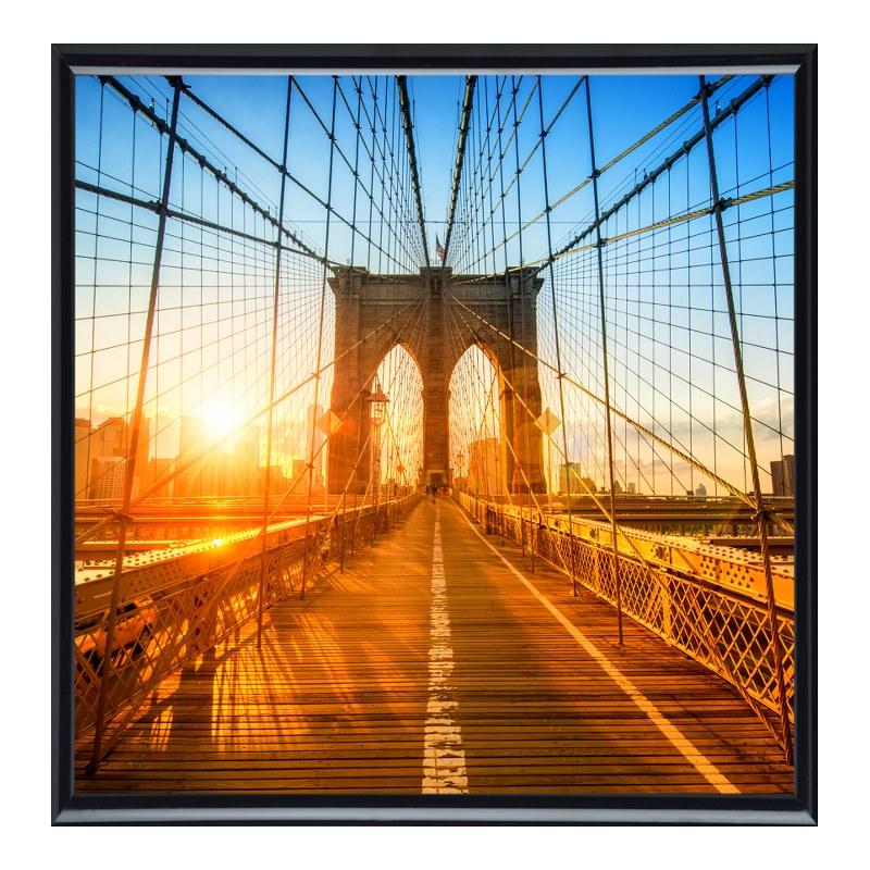 Brooklyn Motiv Foto im Fotorahmen Kunststoff in...