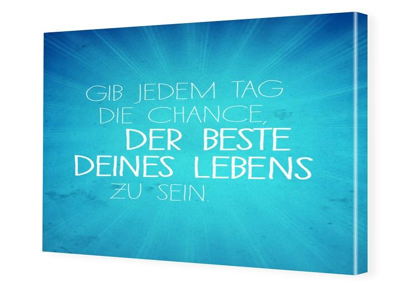 Motivationsposter Foto auf Leinwand im Format 6...