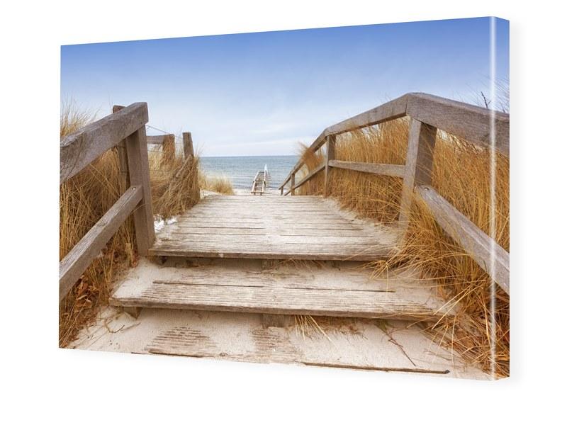 Strandpfad Foto auf Leinwand im Format 40 x 30 cm