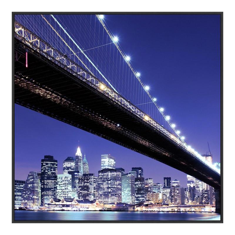 Brooklyn Bridge schwarz weiß Glasbilder im Artbox in schwarz im Format 60 x 40 cm | Dekoration > Bilder und Rahmen > Bilder | myposter