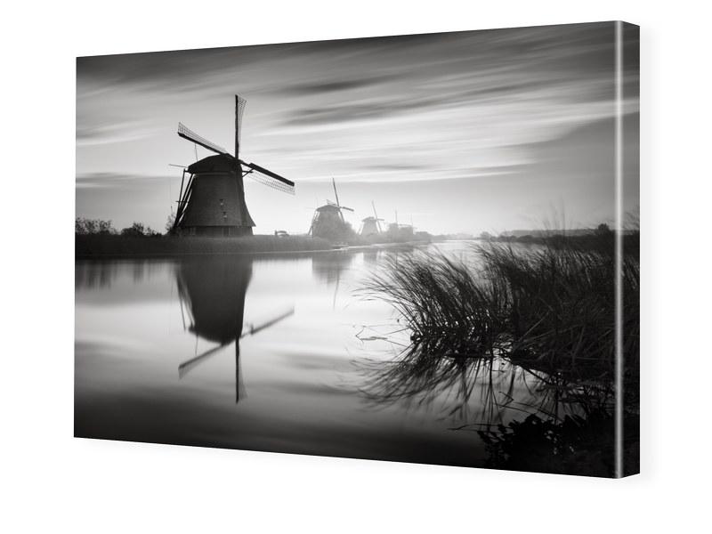 Windmuehlen von Kinderdijk Leinwandfotos im Format 140 x 105 cm | Garten > Dekoration > Windmühlen | myposter